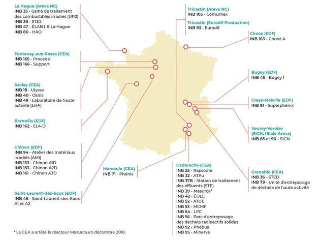 Démantèlement centrales et installations