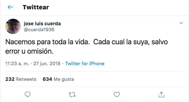 Captura de Twitter de
