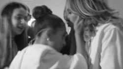 Un bacio, prima di andare in scena al Super Bowl: l'intimo momento tra mamma JLo e la
