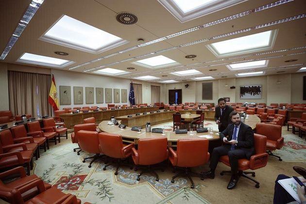 Iván Espinosa de los Monteros en la sala constitucional del