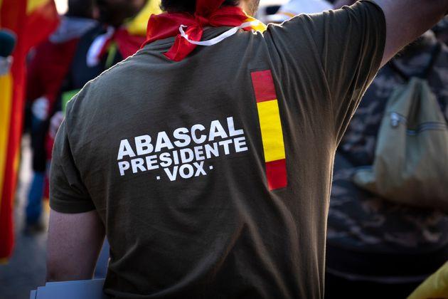 Protestas de simpatizantes de Vox en la plaza de Sant