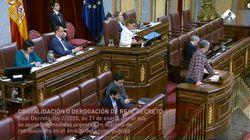 El diputado de Bildu genera murmullos con su comentario al ver a Suárez Illana dándole la