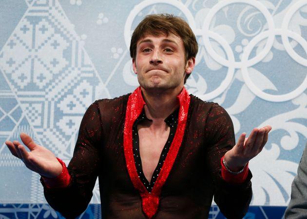 Brian Joubert lors des JO d'hiver de Sochi en