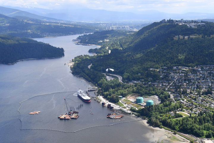 The Trans Mountain marine terminal, in Burnaby, B.C. on May 29, 2018.