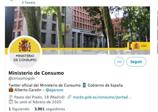 Twitter del Ministerio de