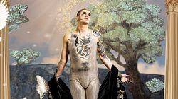 Achille Lauro cita Giotto e porta l'affresco di San Francesco di Assisi sul palco