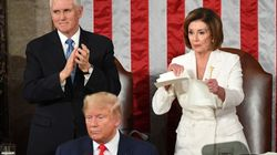 Nancy Pelosi Rips Up Trump's State Of The Union