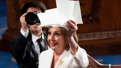 Twitter Users Hail 'Queen' Pelosi For Ripping Up Trump's 'Garbage'