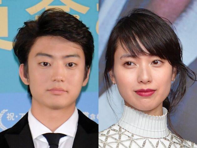 「スカーレット」で主人公・川原喜美子を演じる戸田恵梨香さん(右)。息子役の伊藤健太郎さん(左)。