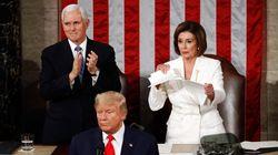 Trump infiamma un Congresso diviso. Pelosi strappa il