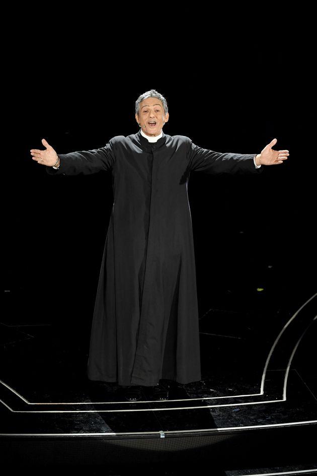 SANREMO, ITALY - FEBRUARY 04: Rosario Fiorello attends the 70° Festival di Sanremo (Sanremo Music Festival)...