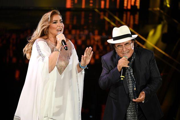 SANREMO, ITALY - FEBRUARY 04: Romina Power and Albano Carrisi attend the 70° Festival di Sanremo (Sanremo...