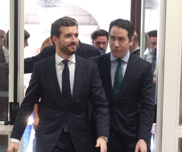 Casado y García Egea, en el Congreso de los