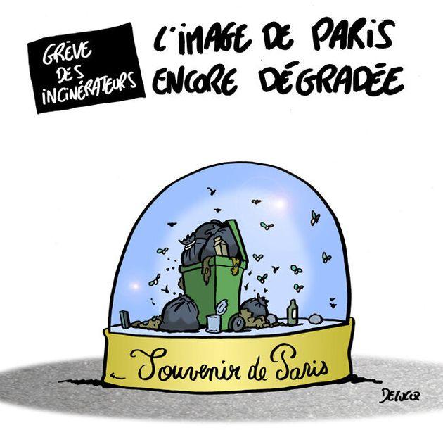 À Paris, ça sent maintenant la grève à plein