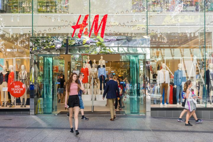 An H&M store in Brisbane, Australia. The company is making pledges on its climate and environmental impact but is also opening hundreds of new stores a year.