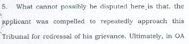 Excerpt from the 2 June 2016 order of the CAT. The applicant being referred to here is IFS officer Sanjiv