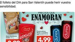Cachondeo con el folleto que ha sacado Día para San Valentín: