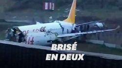 Un avion de ligne se brise en deux à son atterrissage à