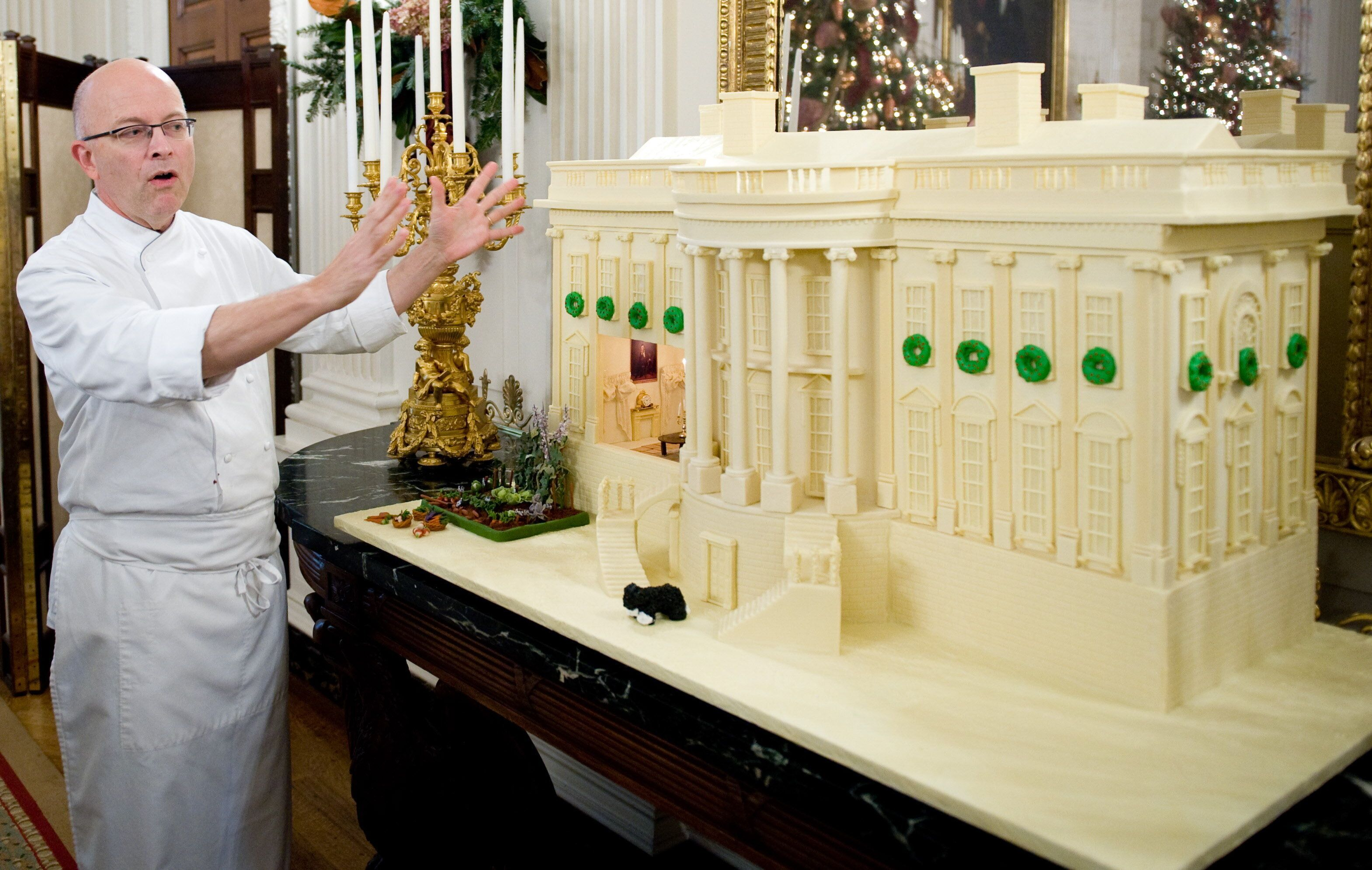 Yosses explains his design for the official White House gingerbread house in 2009.