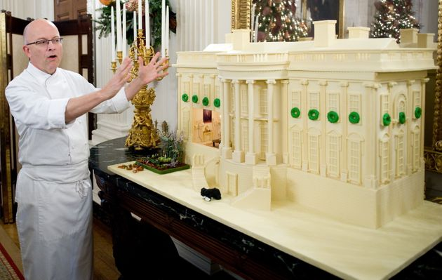 Yosses explains his design for the official White House gingerbread house in