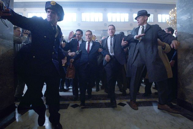 Le syndicaliste Jimmy Hoffa (Al Pacino) et le tueur à gages Frank Sheeran (Robert de