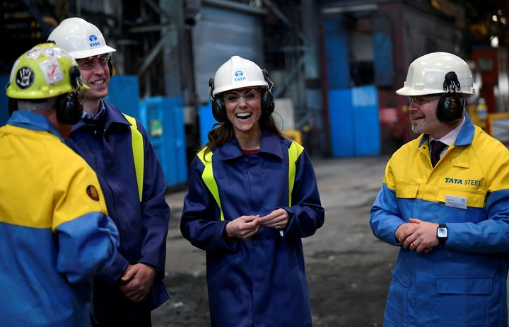 The visit to Wales by the royals included a stop at the Tata Steel plant.