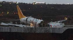Al menos un muerto y 157 heridos al salirse de la pista de aterrizaje y romperse un avión en