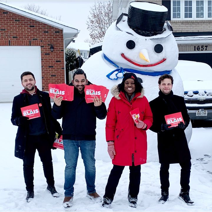 MPP Mitzie Hunter campaigns in Ottawa with Liberal supporters.