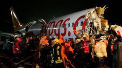 Un avion se brise en deux après une sortie de piste à
