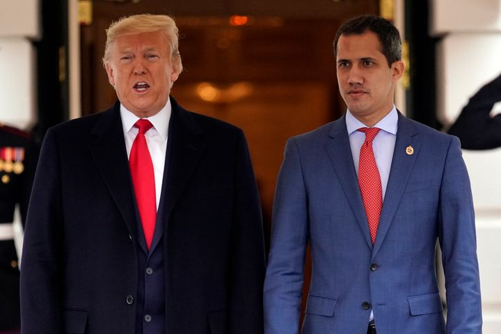 Venezuelan opposition leader Juan Guaidó met with President Donald Trump at the White House on Wednesday as the U.S. p