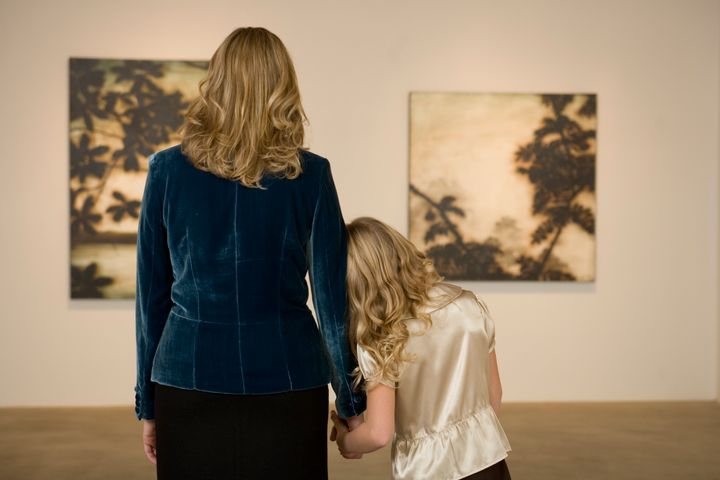 Family trips to an art gallery can be a really good way for a child who's interested in art to engage.