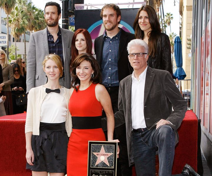 Mary Steenburgen, Ted Danson and their family attend the ceremony honoring Steenburgen with a star on the Hollywood Walk of Fame on Dec. 16, 2009.Steenburgen's daughter, Lilly, is kneeling at left, and her son, Charlie, is standing second from right.
