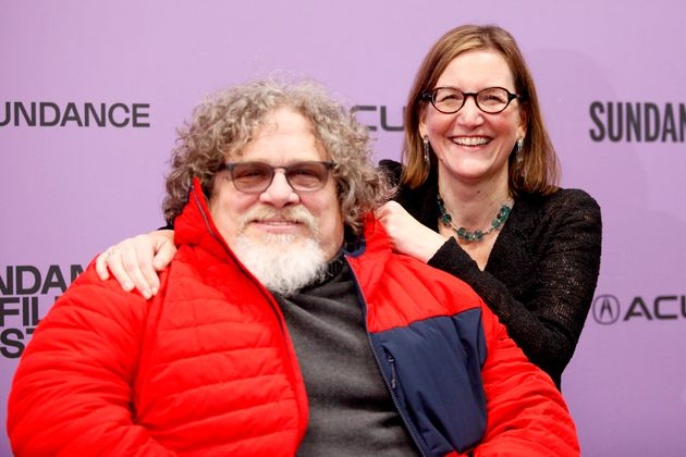 Co-directors Jim LeBrecht and Nicole Newnham attend the