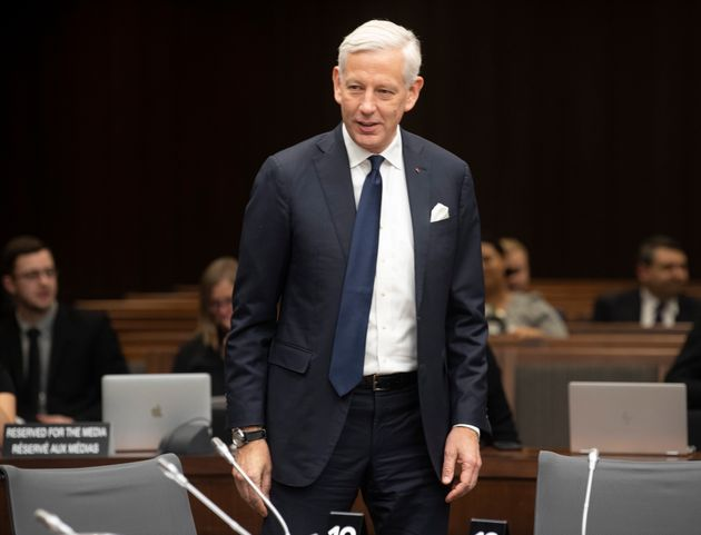Canada's Ambassador to China Dominic Barton waits to appear before the House of Commons committee in Ottawa on Feb. 5, 2020.