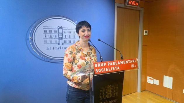 Silvia Cano, portavoz de los socialistas en el Parlament balear, en una imagen de