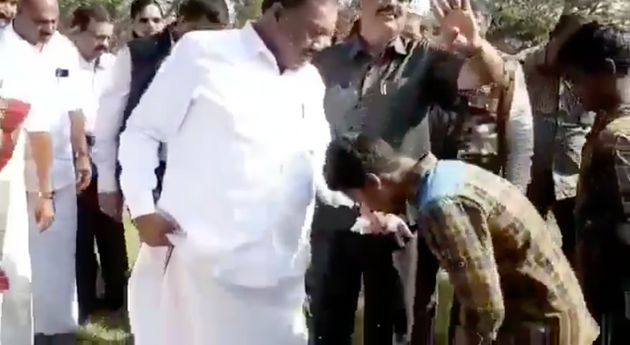 Forest Minister Dindigul C Sreenivasan has children from the tribal community remove his
