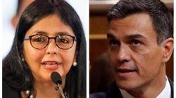 El Gobierno niega que Delcy Rodríguez hablara con Pedro Sánchez desde