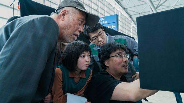 Netflixで2017年6月に配信された『オクジャ/okja』の撮影風景
