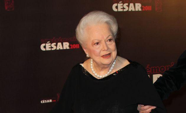Olivia de Havilland lors de la 36e cérémonie des César au théâtre du...