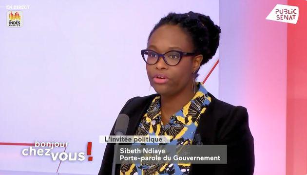 Sibeth Ndiaye, porte-parole du gouvernement, le 6 février 2020, sur Public
