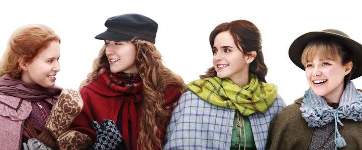 Eliza Scanlen, Saoirse Ronan, Emma Watson y Florene Pugh, en 'Mujercitas'.