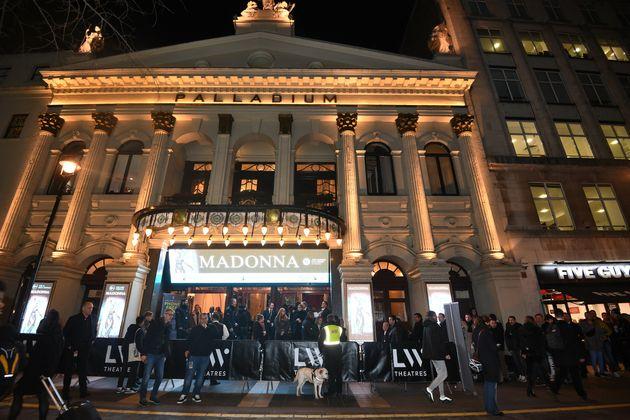 The London Palladium on the opening night of Madonna's Madame X