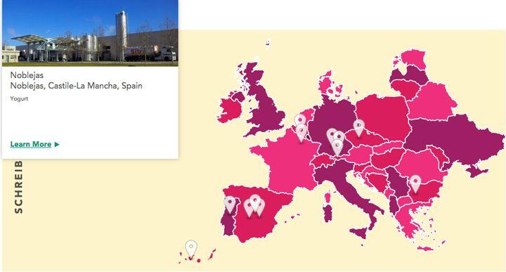 Fábricas de Schreiber Foods en Europa.