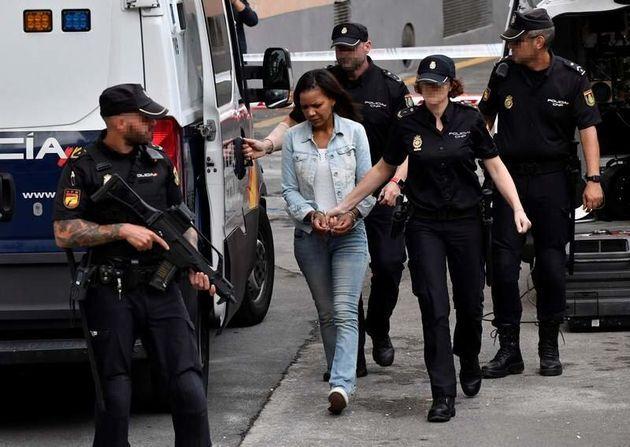 Ana Julia Quezada, asesina del niño Gabriel Cruz, durante uno de sus traslados a la Audiencia Provincial...