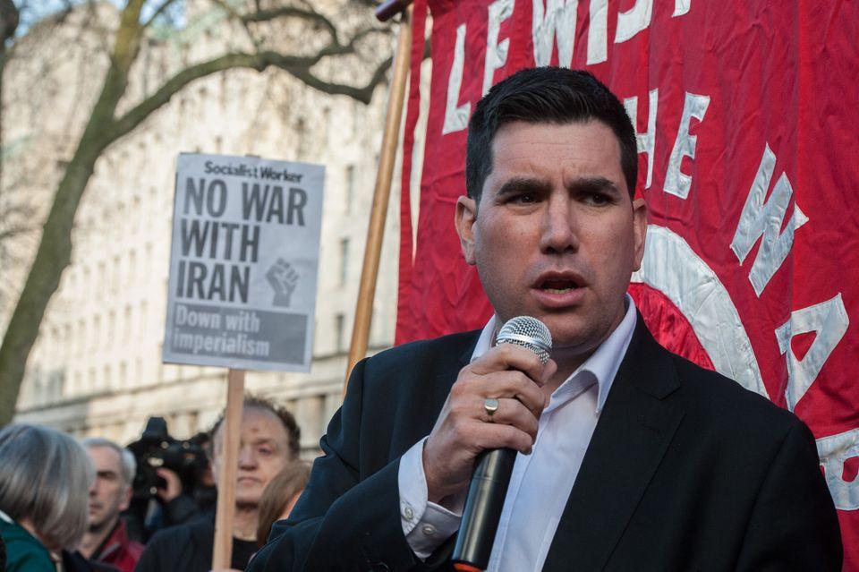 Richard Burgon MP addresses the protest on January 4,