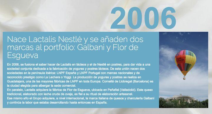 Creación de Lactalis Nestlé.
