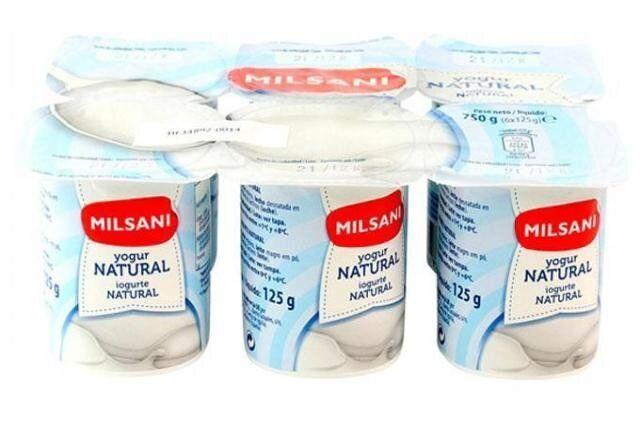Yogures naturales de Milsani (Aldi).