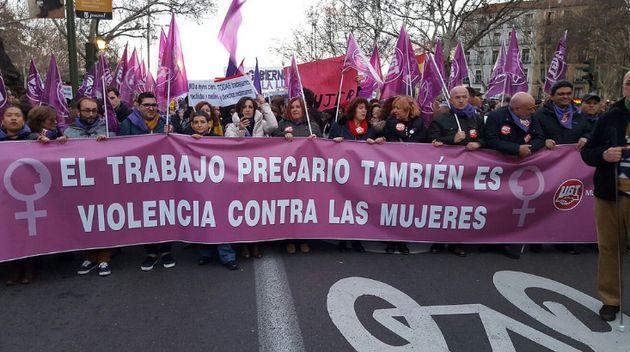 Manifestación por el trabajo digno de las