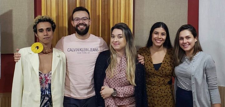 Jornalista Sanara Santos, Diego Iraheta (HuffPost), influenciadora Erika Gentille, Ana Beatriz Rosa (HuffPost) e psicóloga Paula Scampini.