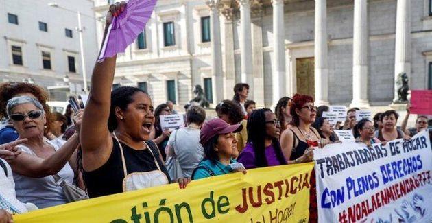 Manifestación del colectivo 'Territorio